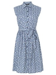 Sugarhill Boutique Ethel Shirt Dress Blue Floral Print