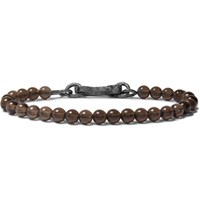 Bottega Veneta Quartz Bead Bracelet Brown