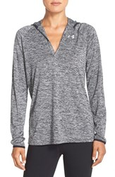 Women's Under Armour 'Twist' Split Neck Hoodie Black