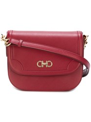 Salvatore Ferragamo Large Double Gancio Shoulder Bag Red