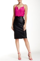 Tart Giada Faux Leather Skirt Black