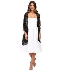 Betsey Johnson Tulle Wrap With Sequin Scallop Pattern Black Women's Clothing