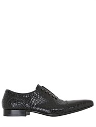 Jo Ghost Handcrafted Croc Oxford Leather Shoes