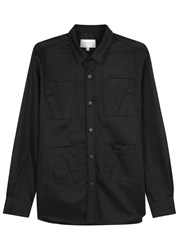 Public School Shaw Black Pleat Detailed Cotton Jacket