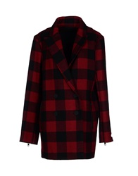 American Retro Coats Brick Red