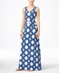 Inc International Concepts Printed V Neck Maxi Dress Only At Macy's Snake