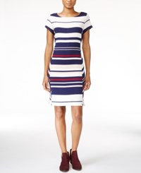 Maison Jules Striped Sheath Dress Only At Macy's Washed White Combo