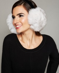 The Fur Vault Fox Fur Earmuffs Blue Fox