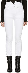 Etoile Isabel Marant White High Rise Earley Jeans