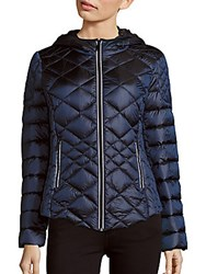 Saks Fifth Avenue Missy Diamond Quilted Puffer Jacket Sapphire