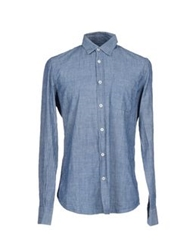 Glanshirt Denim Shirts Blue