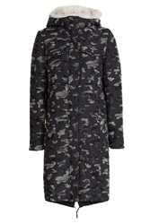 Jil Sander Navy Camouflage Outdoor Coat Multicolor