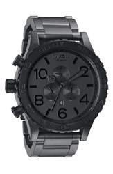 Men's Nixon 'The 51 30 Chrono' Watch 51Mm Matte Black Gunmetal