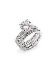 Saks Fifth Avenue Stone Rings Set Of 2 Silver