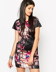 Rock And Religion Printed Ponte Cocoon Dress Purple