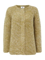 Noa Noa Chunky Colour Melange Cardigan Green