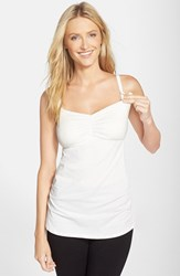 Women's Cake 'Gelato' Shirred Nursing Tank White