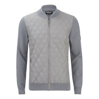 Barbour International Men's Endo Zip Through Knit Cardigan Grey