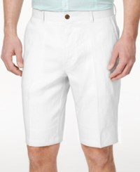 Inc International Concepts Smith Linen Blend Shorts White