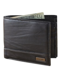 Guess Leather Bifold Wallet Black