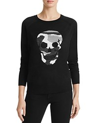 Aqua Camo Skull Crewneck Sweater Black