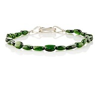 Suzanne Felsen Men's Green Chrome Diopside Beaded Bracelet Green