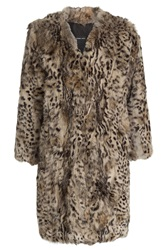 Anna Sui Rabbit Fur Coat Animal Prints