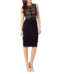 Phase Eight Ivy Lace Combo Dress Navy