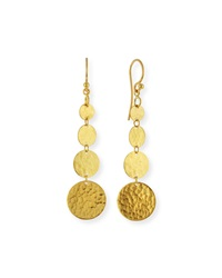 Lush 24K Gold Graduated Dangle Earrings Gurhan