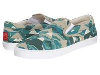 Bucketfeet Feel Good By Numbers Green Men's Slip On Shoes