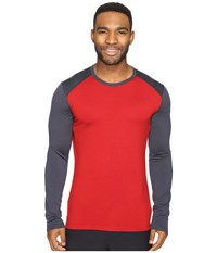 Icebreaker Tech Top Long Sleeve Crewe Oxblood Stealth Stealth Men's Clothing Red