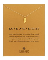 Love And Light Angel Wing Pendant Necklace Gold Dogeared
