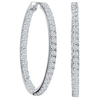Jools By Jenny Brown Medium Narrow Hoop Earrings