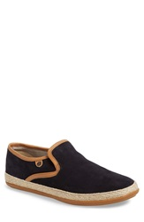 Base London 'Sound' Suede Slip On Men Navy Suede