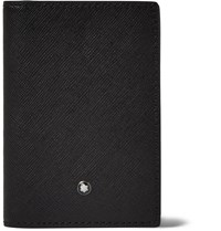 Montblanc Bifold Textured Leather Cardholder Black