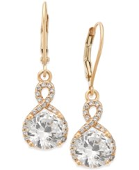 Giani Bernini Cubic Zirconia Infinity Drop Earrings In 18K Gold Plated Sterling Silver Only At Macy's Yellow Gold