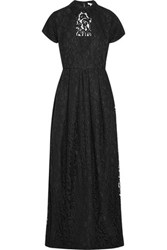 Carven Guipure Lace Gown Black