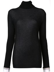 By. Bonnie Young Contrast Trim Jumper Black