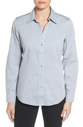 Foxcroft Women's Non Iron Fitted Shirt Silver