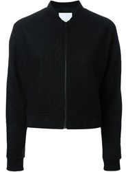 Scanlan Theodore Punched Boucle Bomber Black