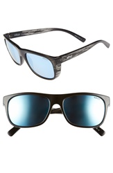 Revo 'Lukee' Polarized 56Mm Sunglasses Black Woodgrain Blue Water