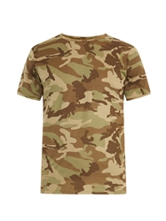 The White Briefs Camo Print Cotton T Shirt