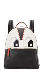 Les Petit Joueurs Mick Eyes Backpack Black White