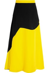 Roksanda Ilincic Roksanda Romley Two Tone Silk Blend Cady Skirt Bright Yellow