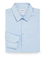 Armani Collezioni Point Collar Dress Shirt Light Blue