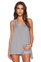 Saint Grace Mila Stripe Tank Black