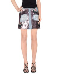 Au Jour Le Jour Denim Denim Skirts Women Blue
