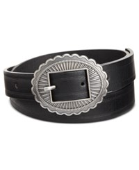 Inc International Concepts Skinny Conch Buckle Belt Only At Macy's Black