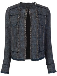 Elie Tahari Tweed Jacket Blue