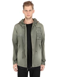 Mrandmrs Italy Hooded Printed Cotton Canvas Parka